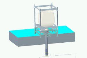 Station de vidange sur-mesure avec vanne diaphragme électrique (secteur agroalimentaire)